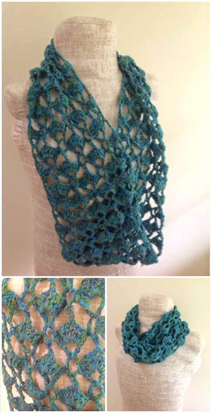 Crochet Infinity Scarf - 74 Free Crochet Scarf Patterns - DIY & Crafts