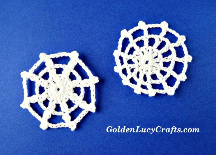 Easy Free Crochet Spider Web Applique Pattern