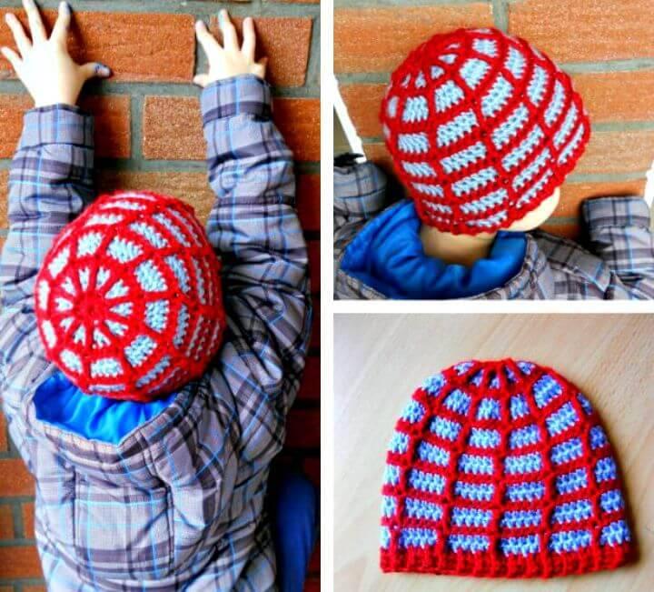Free Crochet Spider Web Beanie Pattern