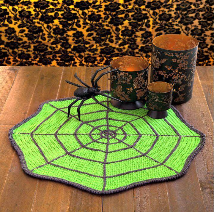 Easy Free Crochet Spider Web Table Mat Pattern