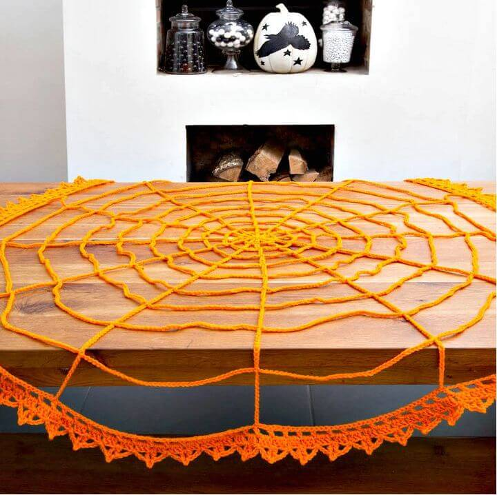 How To Free Crochet Spider Web Table Topper Pattern