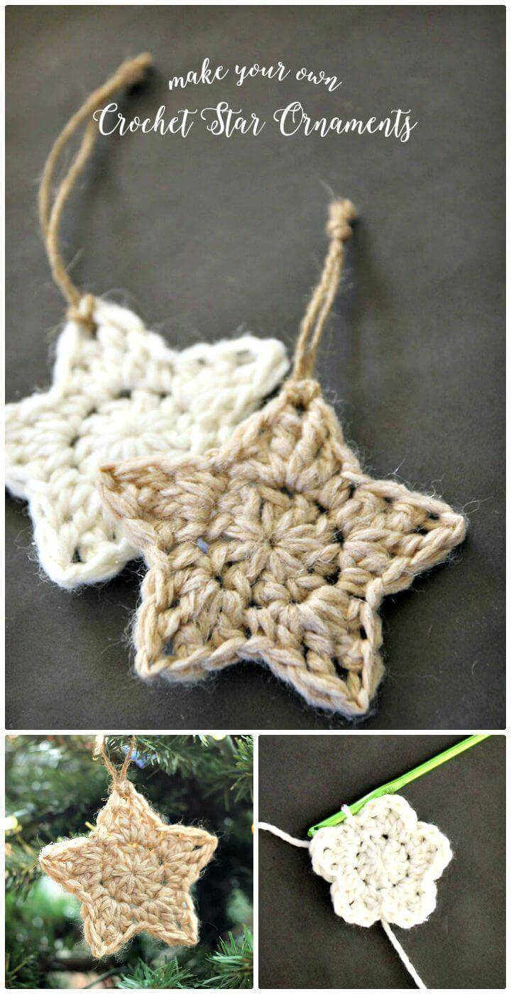 Easy Free Crochet Star Ornament Pattern