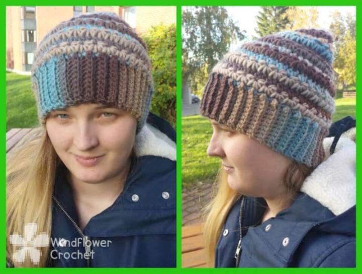 How To Free Crochet Star Stitch Beanie Pattern