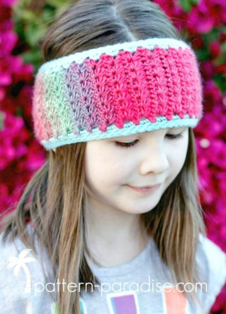 Easy Free Crochet Star Stitch Ear Warmer Pattern