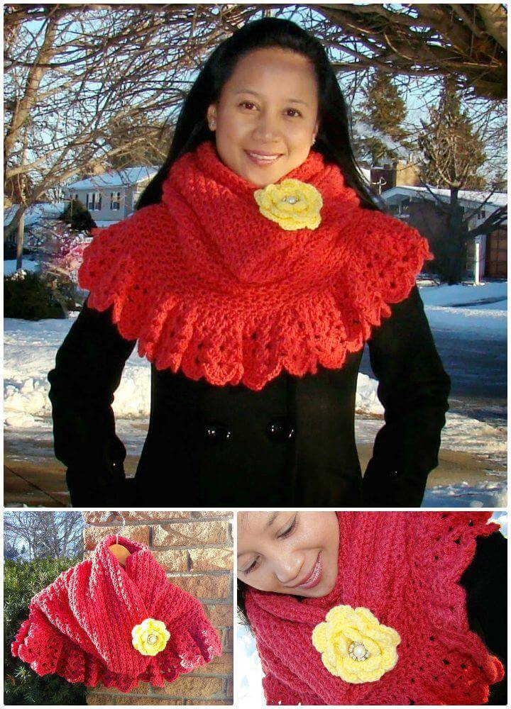 Easy Free Crochet Star Stitch Hoodie Capelet Pattern