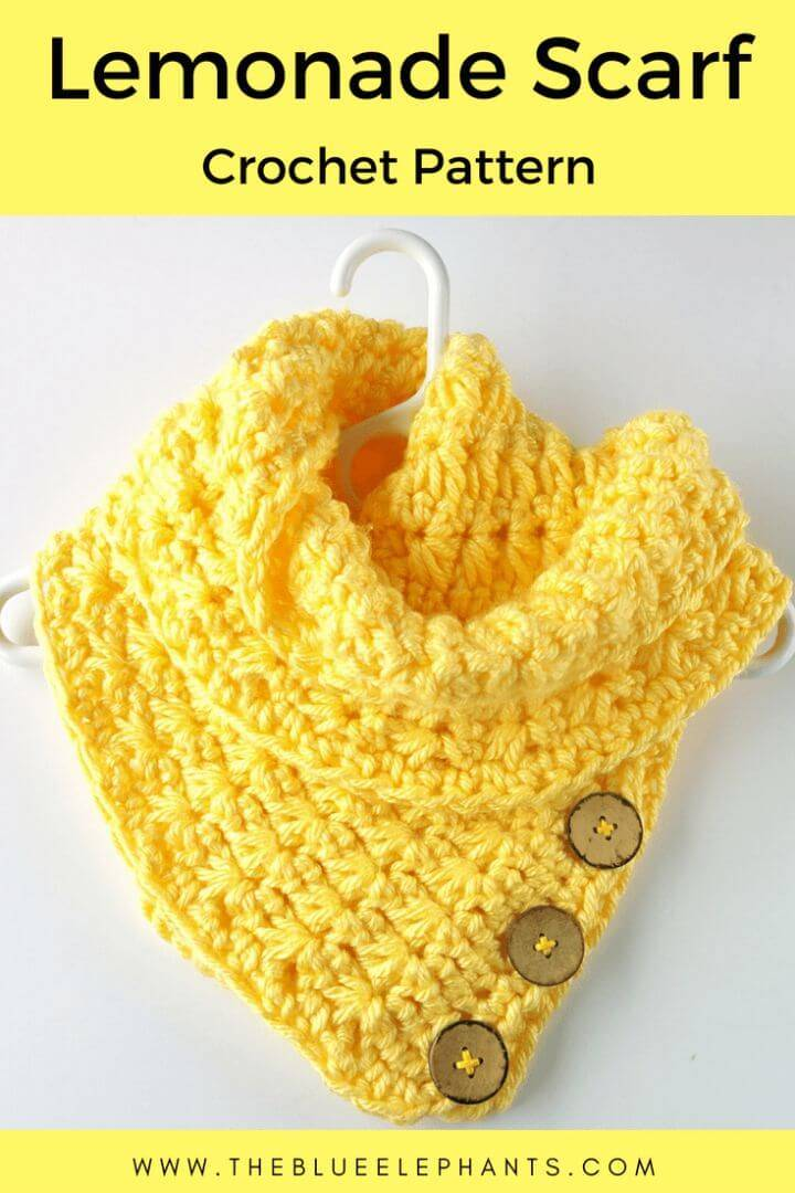 Easy Free Crochet Star Stitch Lemonade Scarf Pattern