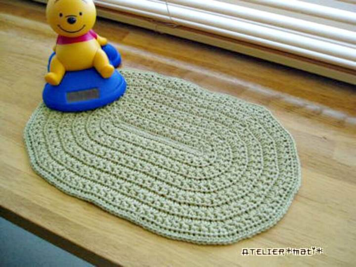 Easy Free Crochet Star Stitch Oval Doily Pattern