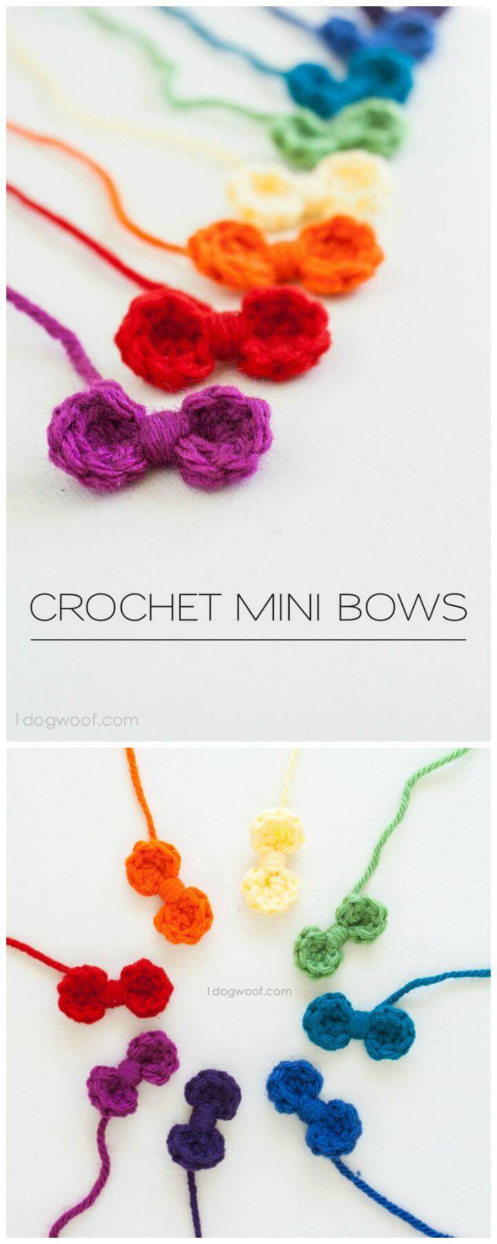 Free Crochet Sweet And Simple Bows Pattern