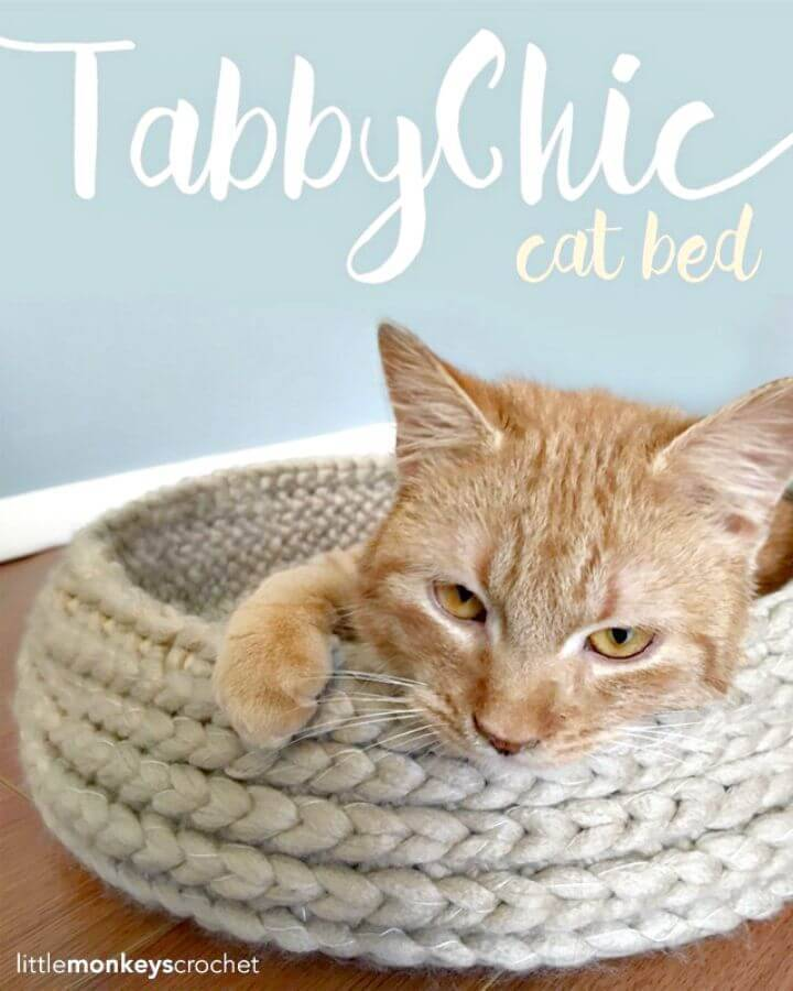20 Free Crochet Cat Bed & House Patterns ⋆ DIY Crafts | 900x720