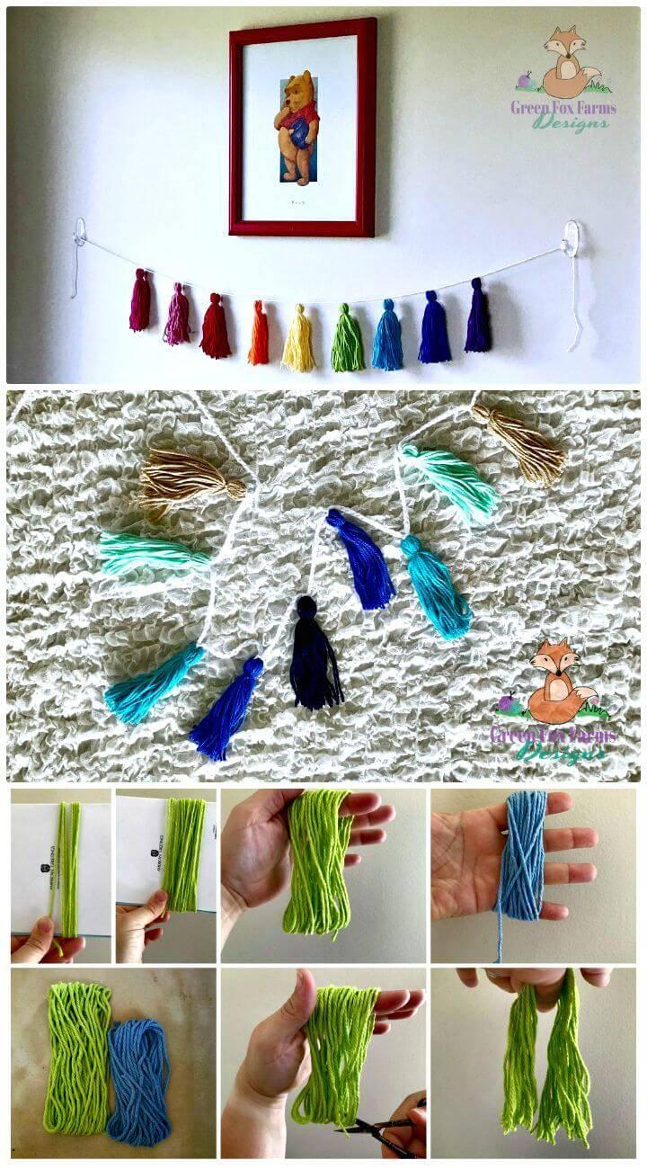 Easy Free Crochet Tassel Bunting Pattern
