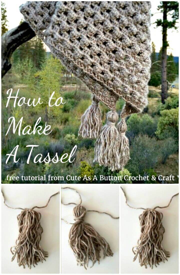 Easy Free Crochet Tassel With Yarn Pattern