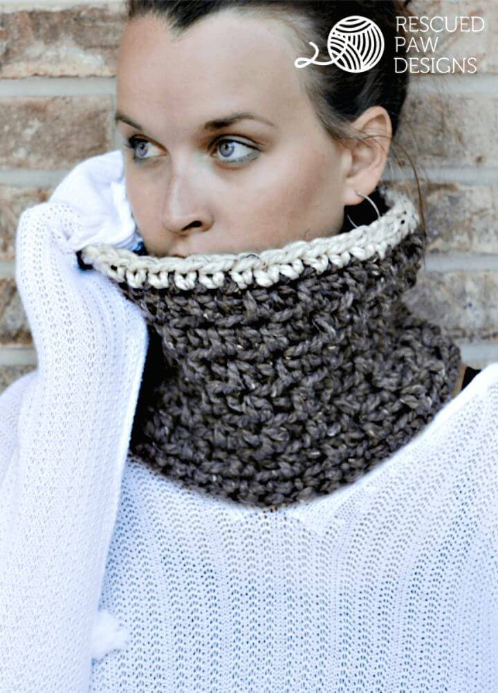 Easy Free Crochet The Jamie Cowl Pattern
