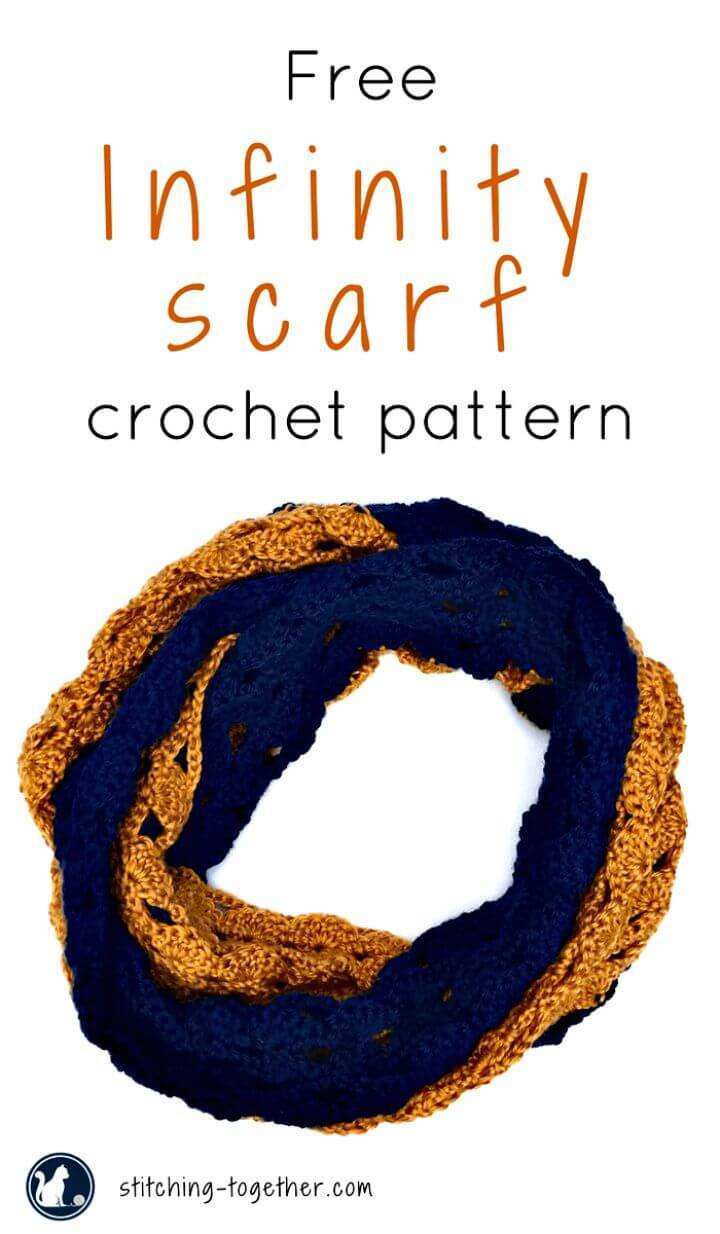 How To Free Crochet The Rival Infinity Scarf Pattern