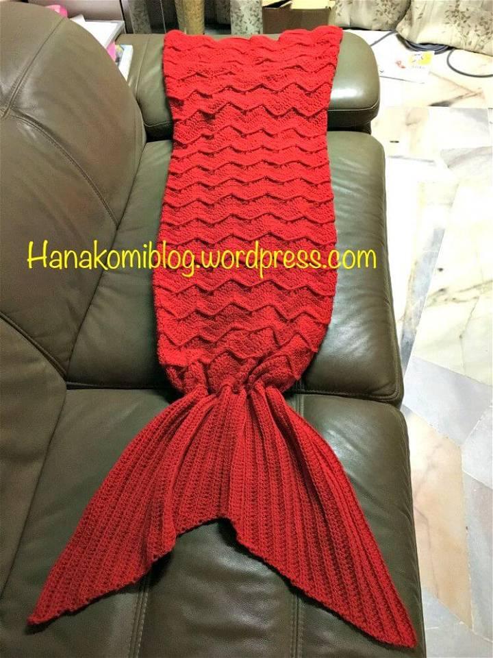 Free Crochet The Syira aka Chevron Mermaid Tail Blanket Pattern
