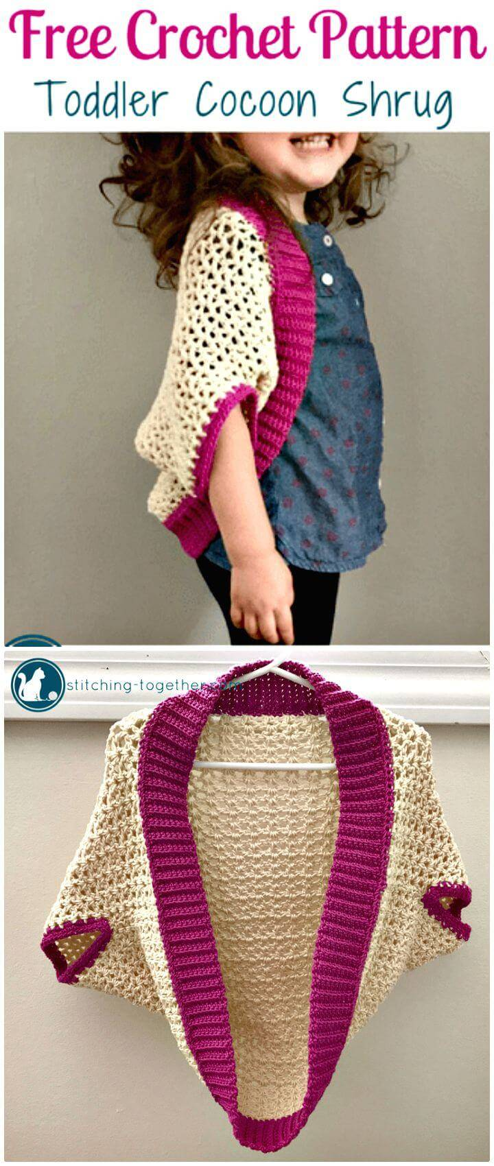 Free Crochet Toddler Cocoon Shrug Pattern