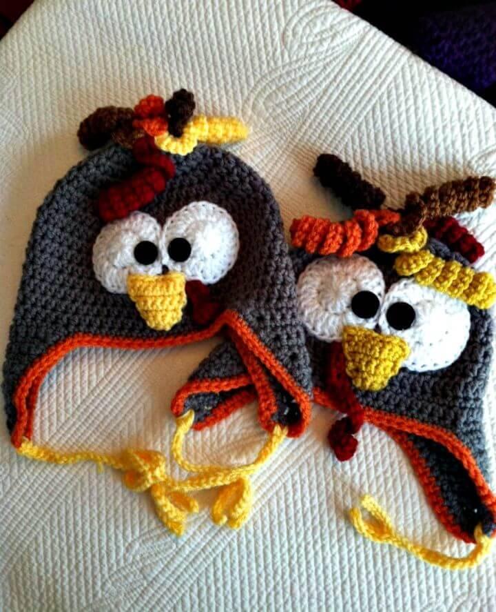 How To Free Crochet Turkey Earflap Hat Pattern