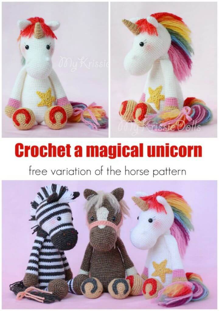 Crochet Unicorn Pattern 60 Free Crochet Patterns DIY Crafts Beauteous Unicorn Crochet Pattern