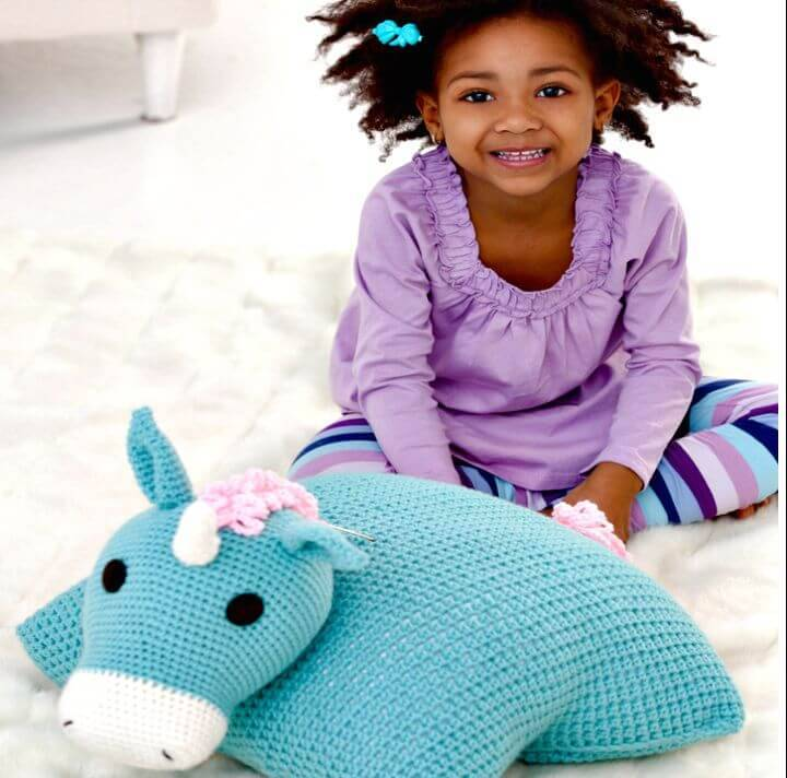 Easy Free Crochet Unicorn Pillow Pal Pattern