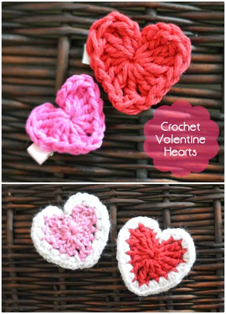 Easy Free Crochet Valentine'S Day Hearts Pattern