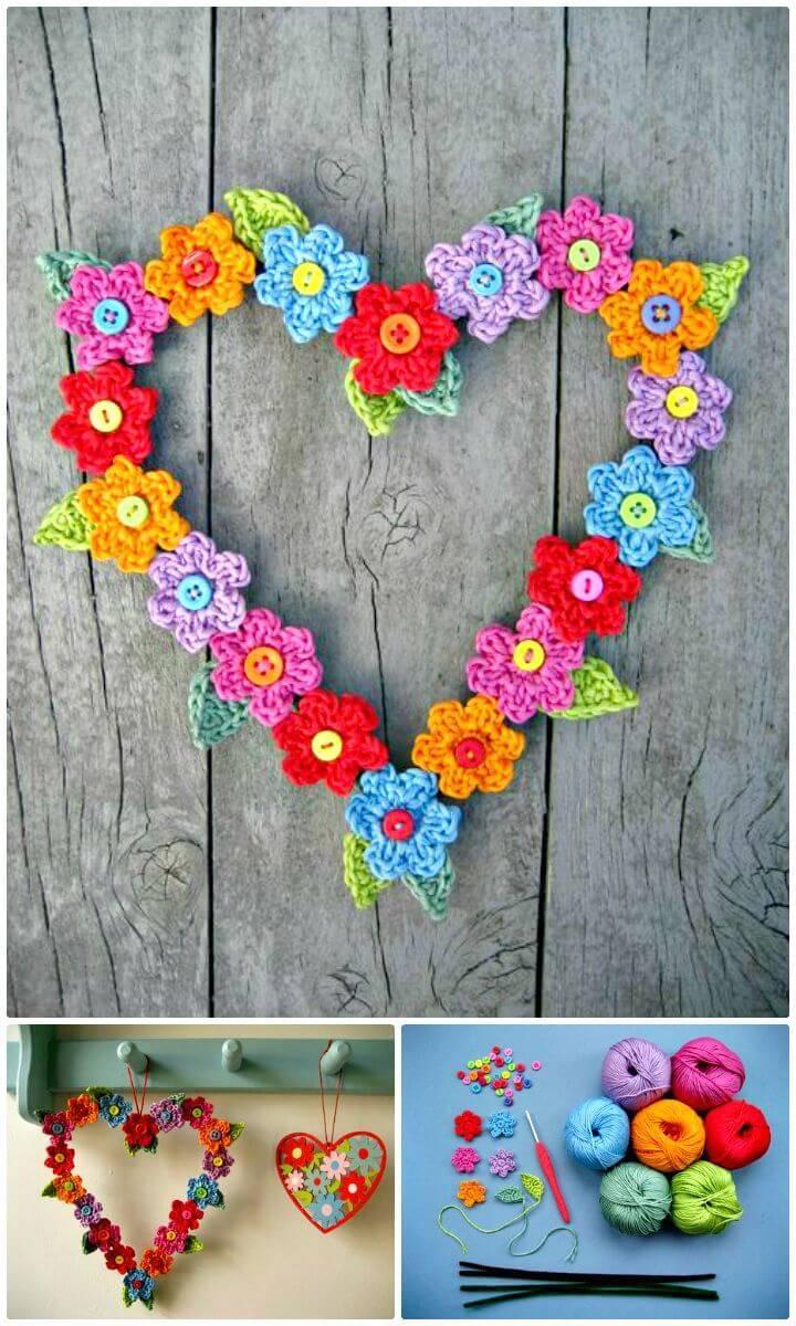Easy Free Crochet Valentine Sweet Heart Pattern