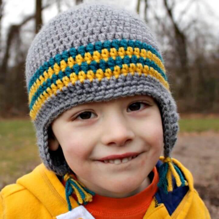 Free Crochet Versatile Earflap Hat Pattern