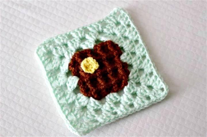 Free Crochet Waffle Granny Square Pattern