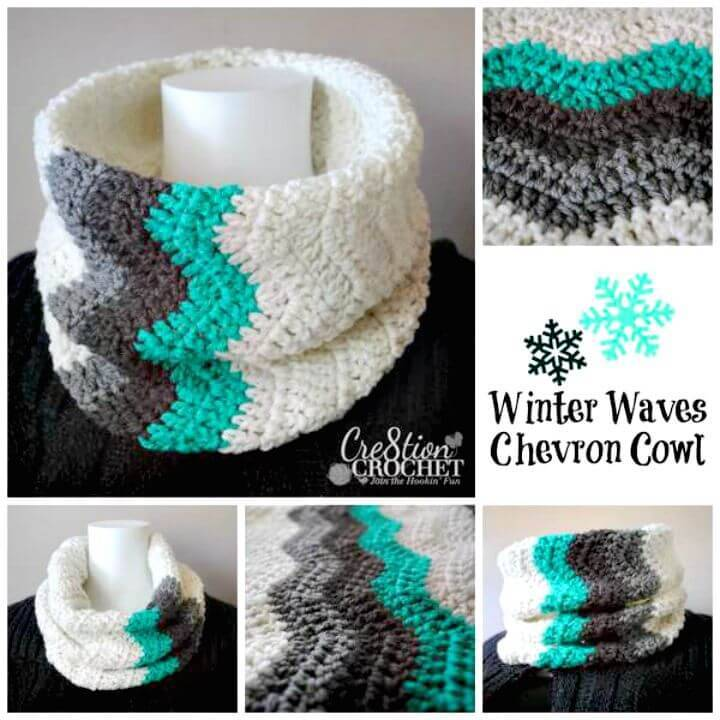 How To Free Crochet Winter Waves Chevron Cowl Pattern