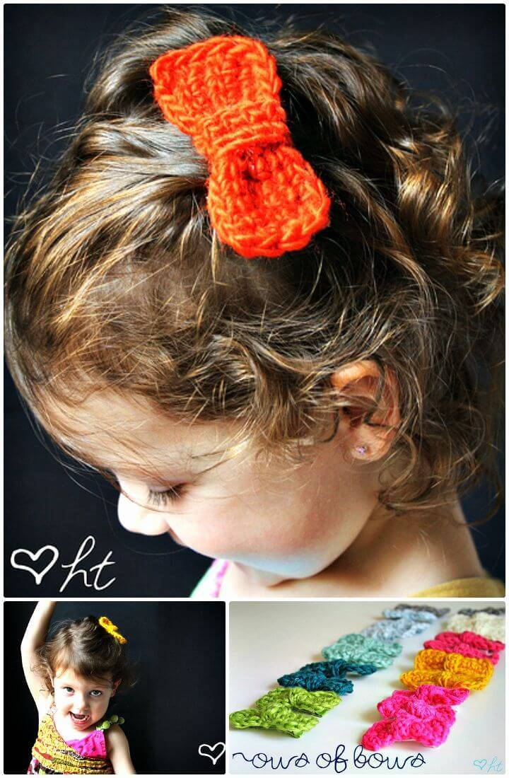 Easy Free Crochet Hair Bows Tutorial