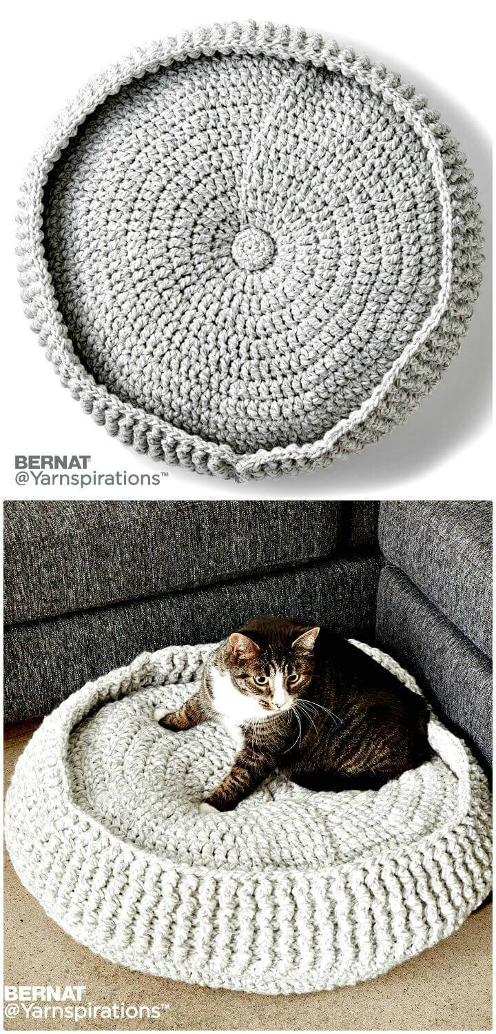 Easy Free Crochet Cat Bed Pattern