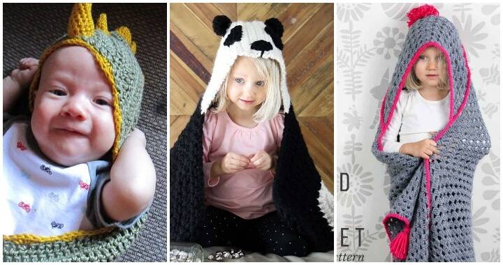 Free Patterns 11 Crochet Hooded Blankets