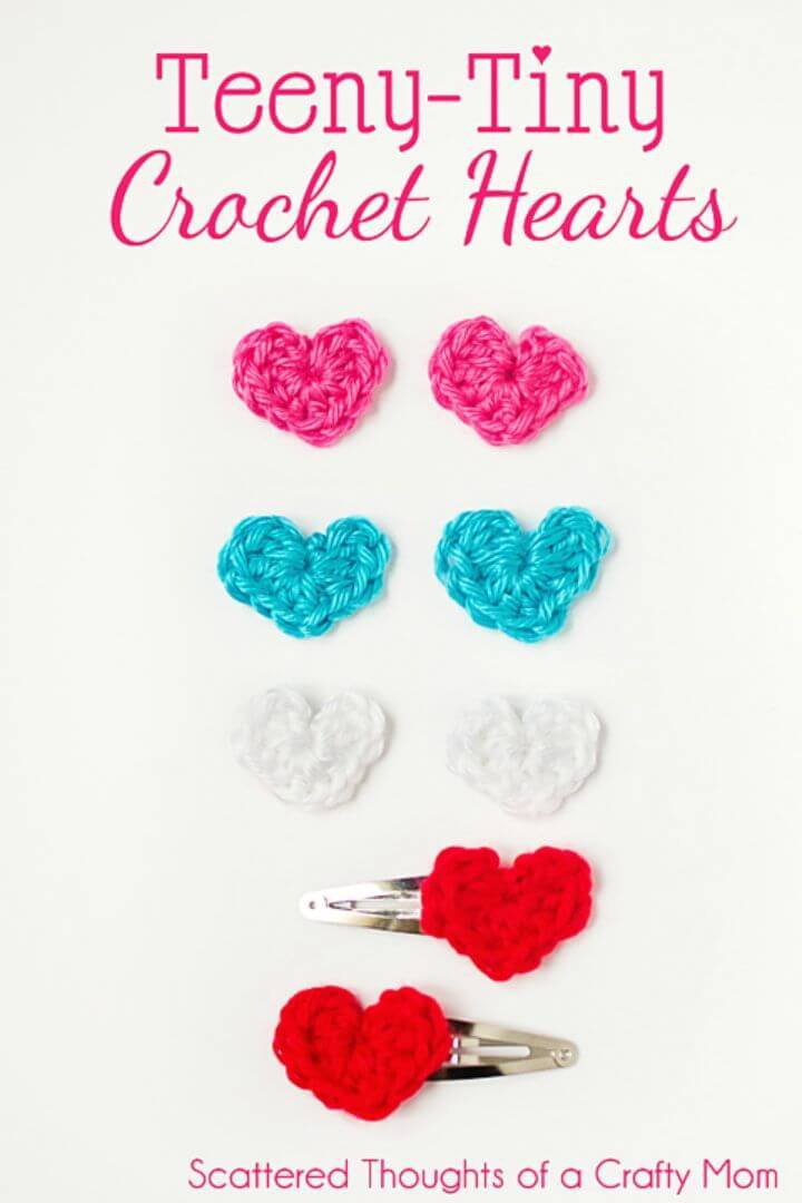 How To Free Crochet Tiny Hearts Pattern