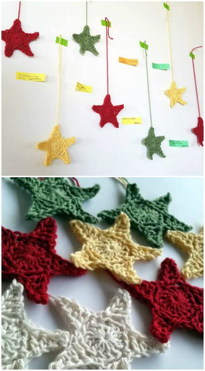 Easy Crochet Hanging Stars - Free Pattern
