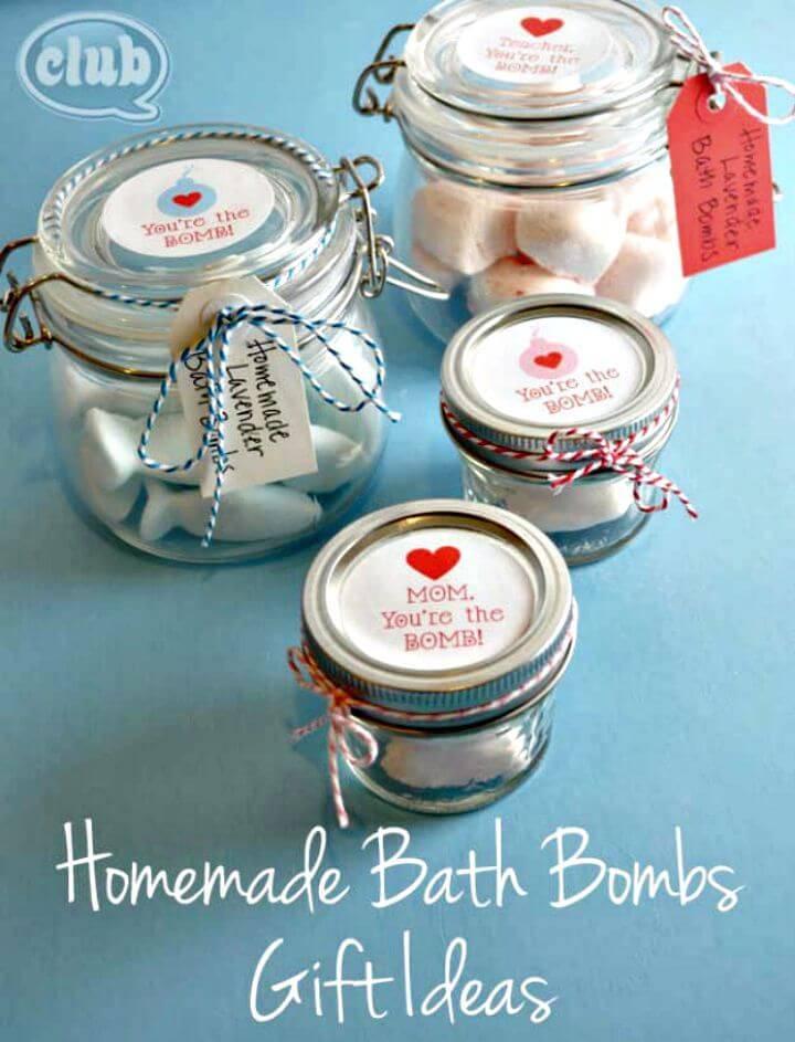 Easy Homemade Bath Bombs Gift In A Jar Ideas