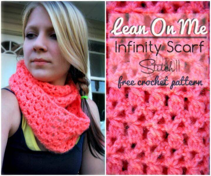 Easy To Free Crochet Infinity Scarf Pattern