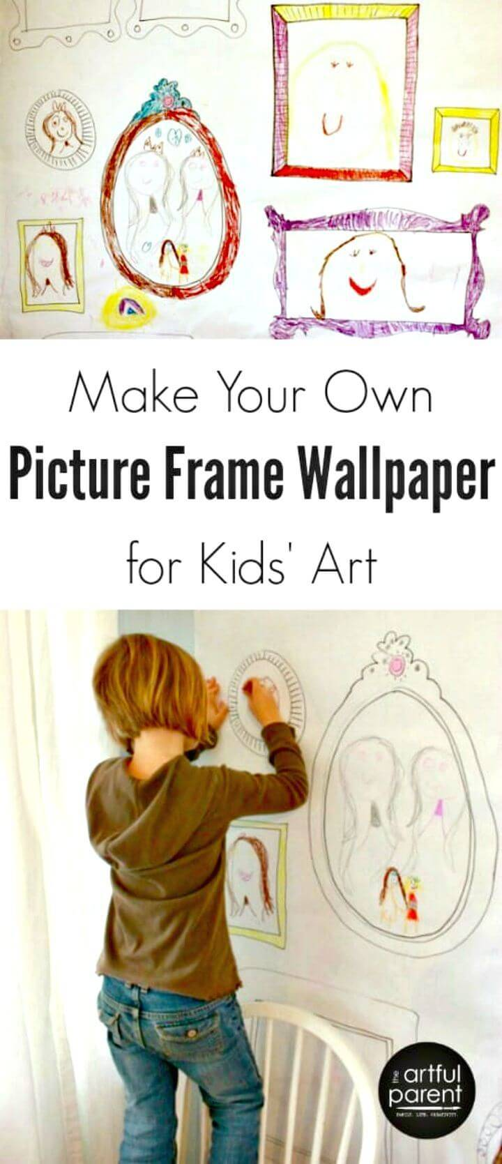 How To Make Your Own Picture Frame Wallpaper For Kids