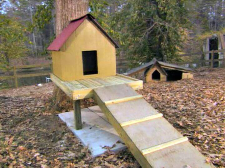 Easy To Build A Dog Tree House Tutorial