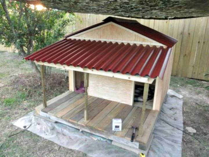 Easy How To Build A Duplex Dog House Tutorial