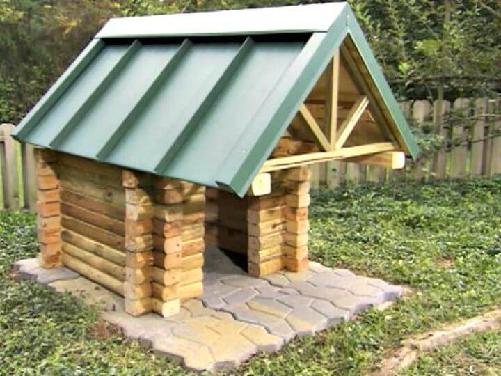 Easy How To Build A Log Cabin Doghouse Tutorial
