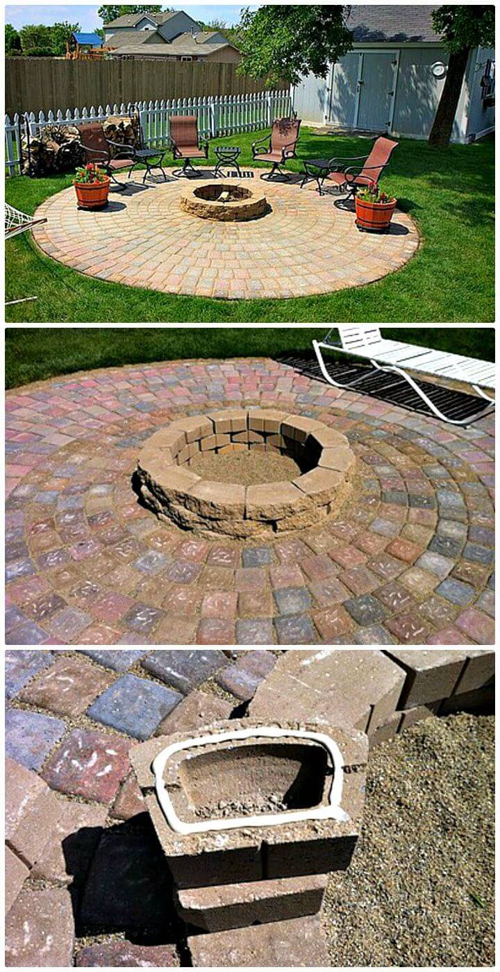 How To Build A Patio And Fire Pit Tutorial