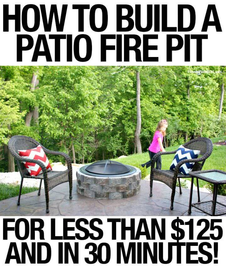 Easy Build A Patio Firepit Tutorial