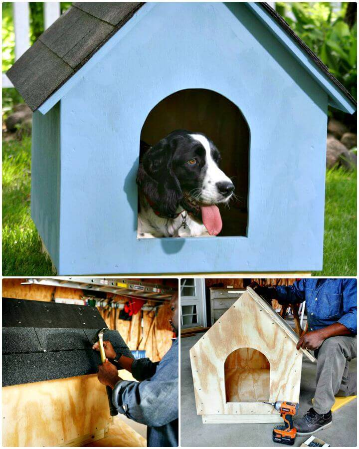 Easy How To Build A Simple Gabled-roof Doghouse
