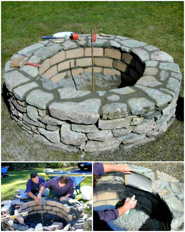 How To Build A Stone Fire Pit Tutorial