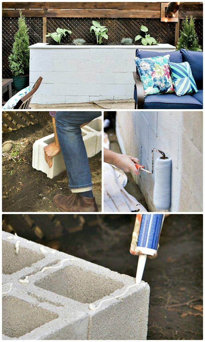 How To Easy Build Cinder Block Raised Bed Planter - Free Tutorial