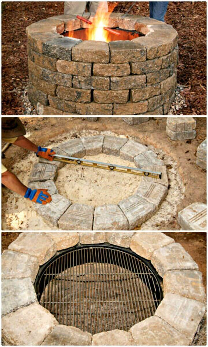 Easy How To Build Your Own Fire Pit Tutorial
