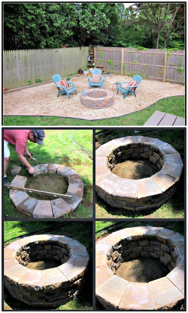 Easy Building A Fire Pit Tutorial