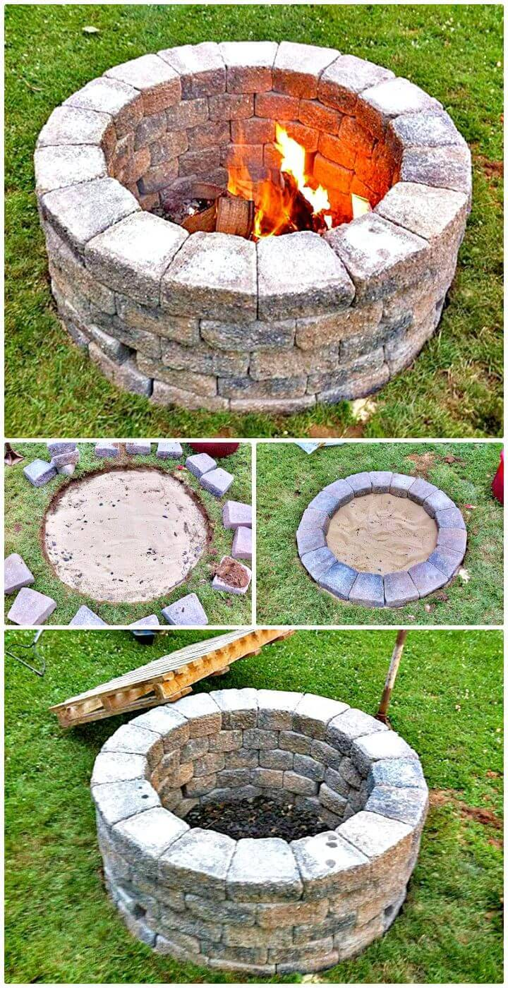 Simple DIY Fire Pit For Your Garden