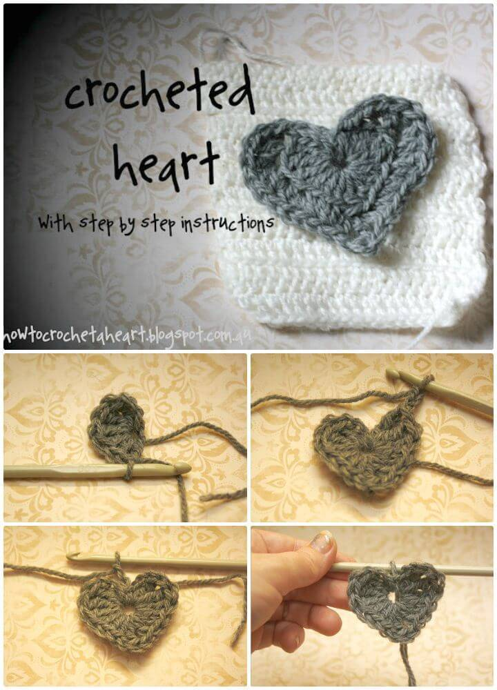 How To Easy Crochet A Heart Pattern