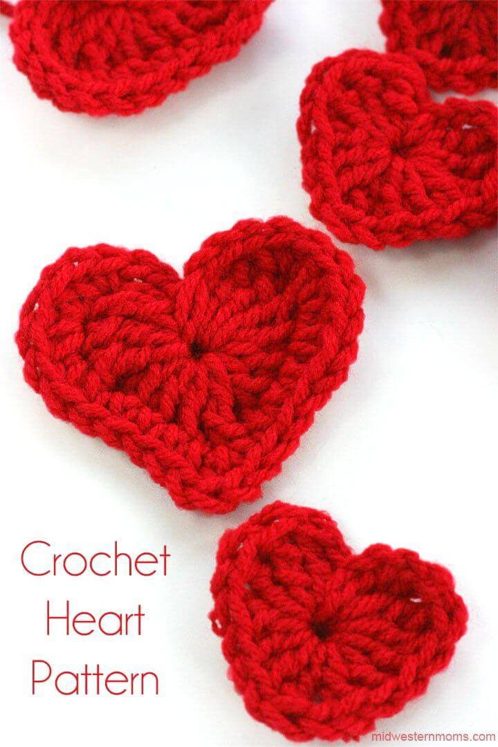How To Free Crochet A Heart Plus DIY Heart Garland Pattern