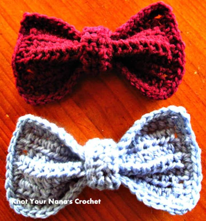 Easy Free Crochet Bows Pattern