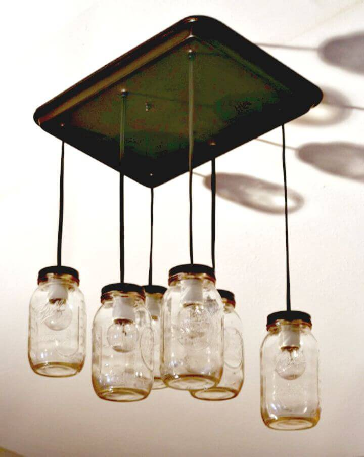 Easy DIY Mason Jar Pendant Lights - Homemade Lights